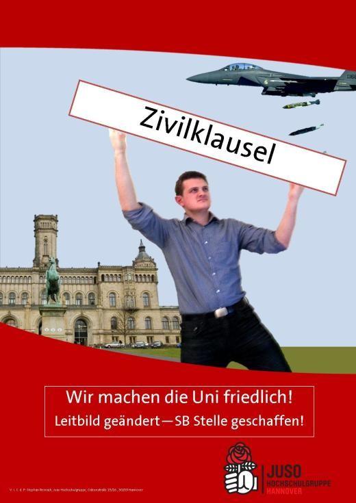 Plakat-Zivilklausel