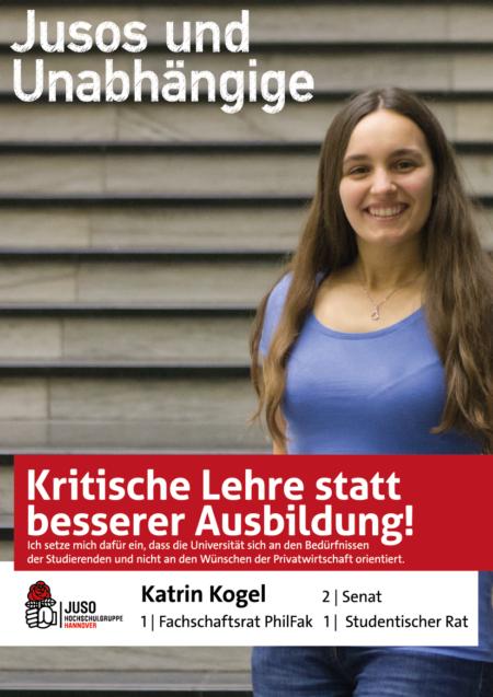 Plakat Katrin Kogel