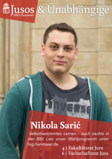 Plakat: Nikola Saric